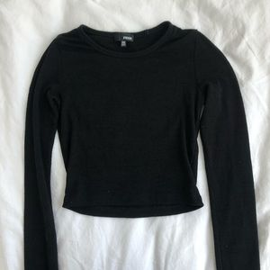Aritzia cropped black long sleeved top